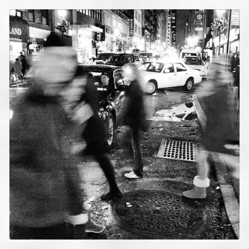 #traffic, both #foot and #cars , #blackandwhite #midtown #instagood #photooftheday #instamood #igers #picoftheday #instadaily #bestoftheday #igdaily #instagramers #statigram #awesome #life #beautiful #iphoneonly #streetphotography #documentary #instagramnyc #nyc #lights
