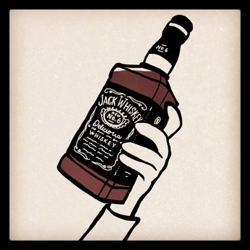 #Whiskey, anyone? #Spoiler for tomorrow's new #comic. #comics #art #booze #jackdaniels #drinking