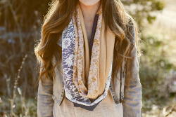 modcloth:  A circle scarf DIY from Sincerely Kinsey.