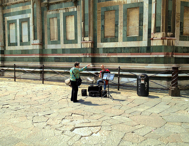| ♕ |  Conductor at Piazza - Florence  | by © Ron Gunzburger