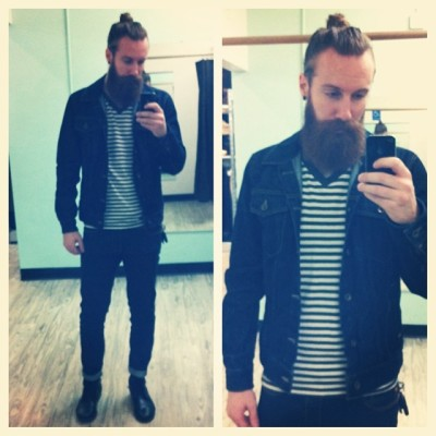 Yooooo finally found the denim jacket I was looking for! #ootd #vans #bdg #wesc #stevemadden #style #fashion #mensfashion #beard
