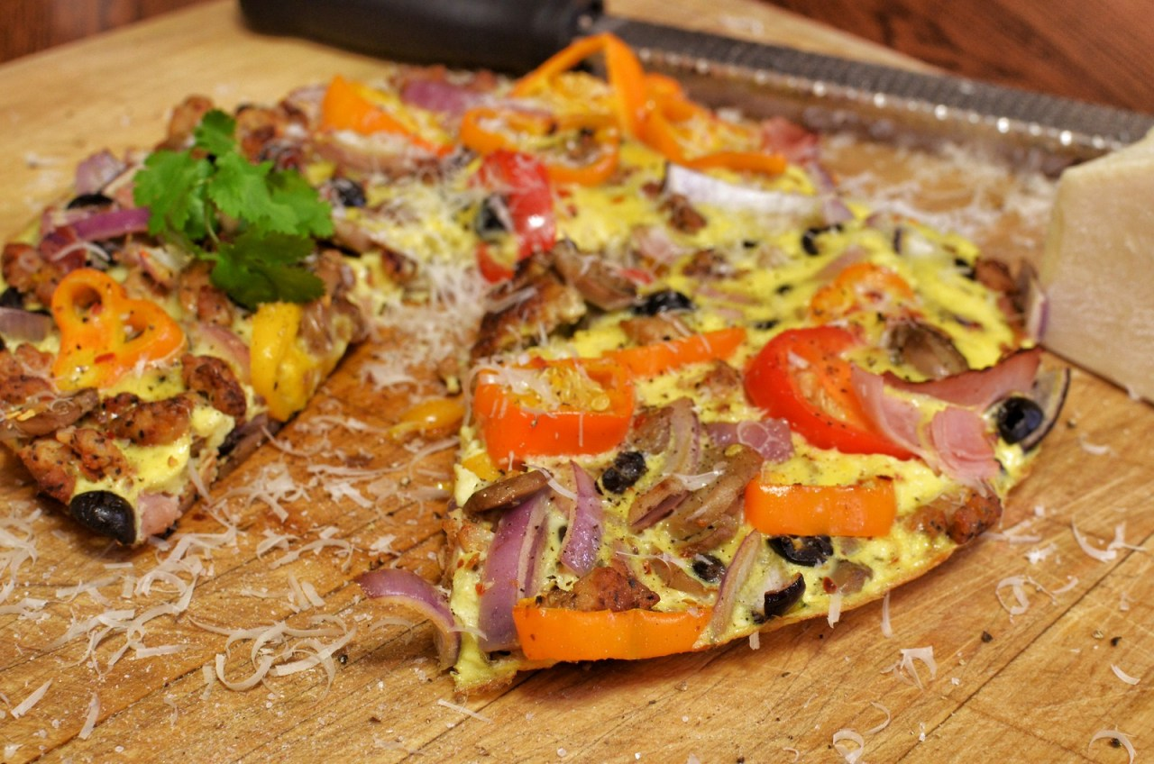 Mmm… breakfast porn - pizza toppings frittata