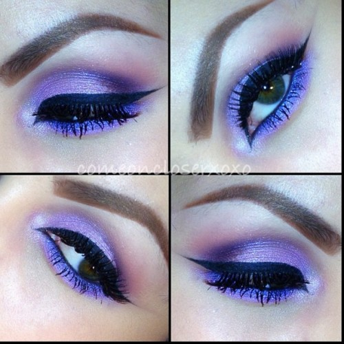 purple eyeballsssss 💜🔮 #eyeshadow #makeup #maccosmetics #ilovemaciggirls #urbandecay #makeup #comeoncloserxoxo #makeuphoneys #smokey
