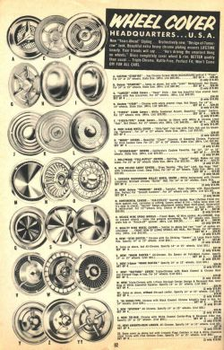 Very Cool old wheel cover offerings in this photo…. Once upon a time these were the hottest wheel covers on the planet…. Now we just specialize in the newer stuff