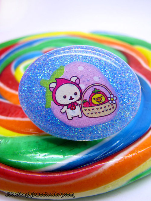 (via Rilakkuma Korilakkuma Bear Blue Glitter Resin by littlecandysweets)