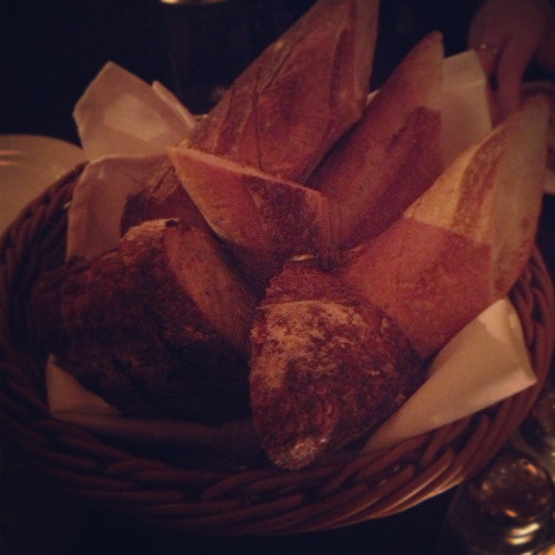 The bread basket, because you didn't even order it.