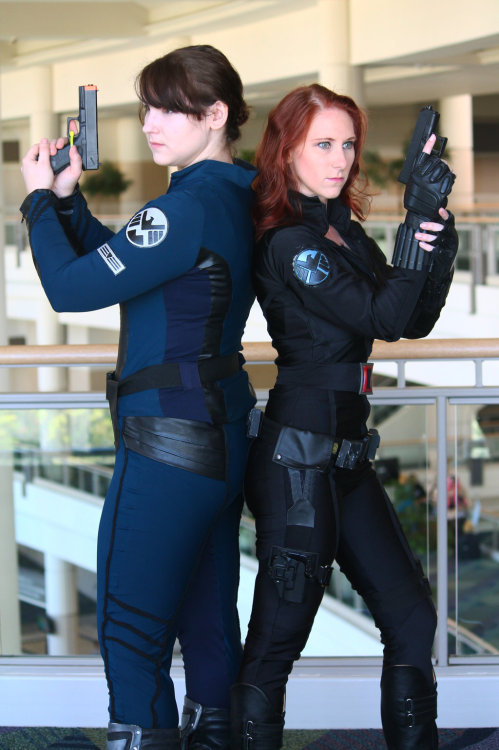 cosplaynaut:  Ladies of SHIELD  LadyS being perfect, and I love that Maria Hill, too!