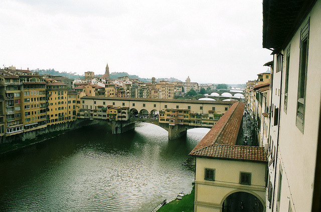 | ♕ |  River Arno - from Uffizzi Gallery  | by © James Doyle