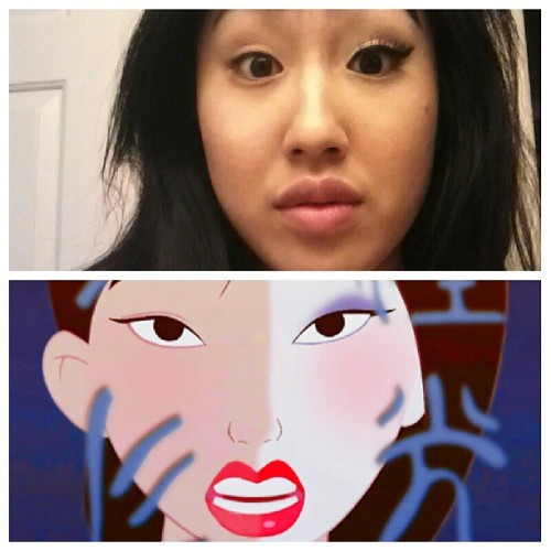 le-romantic:  Mulan is on ABC Family! I just had to take this after the piece walk #mulan #disney #princess #reflection