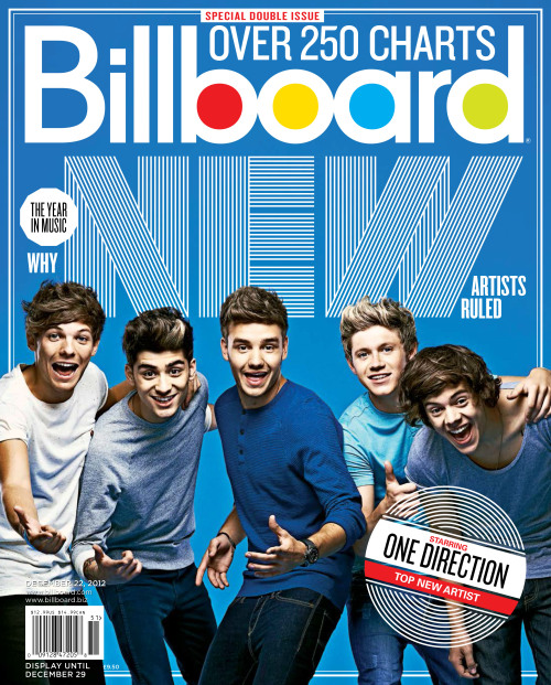 One Direction covers the special Year in Music issue of Billboard, and in honor of their cover story, we have one-on-One (Direction) Q&As with each of the five members! Click here to read them and order a copy of the band's Billboard cover at this link.