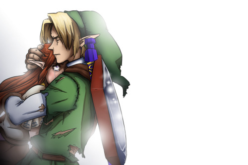 Malink Malon link oot feelings the legend of zelda ocarina of time otp my otp is perfect