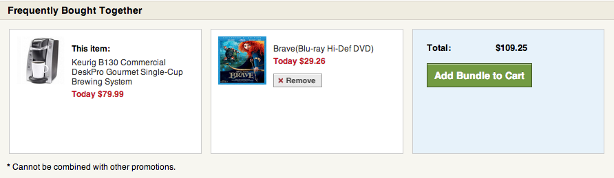 Overstock shoppers frequently buy Keurig systems and the Brave DVD together.