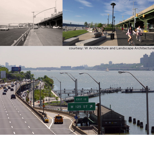 Once a parking lot along the highway. Now the beautiful waterfront park with bike and pedestrian roads connecting it with the rest of the city.5 awards winning project of West Harlem Waterfront of W Architecture & Landscape Architecture. We are very proud that our director Martin Barry works there as a designer. Předtím dálniční parkoviště. Dnes nádherný park na nábřeží, který s městem propojují pěší a cyklo stezky.Projekt nábřeží v západním Harlemu od W Architecture and Landscape Architecture získal 5 ocenění. Jsme hrdí, že náš ředitel Martin Barry tam pracuje jako designér.