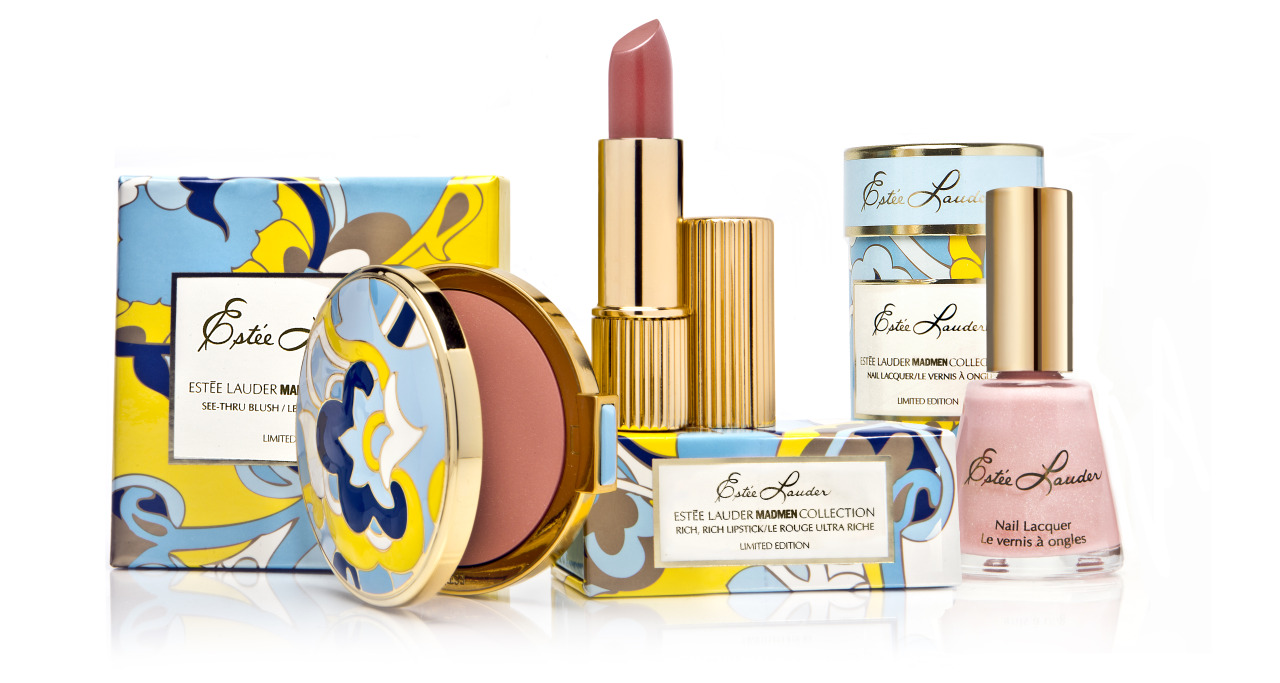 glamour:  Beauty FYI: Estee Lauder's gorgeously-packaged Mad Men collection hits shelves, including esteelauder.com, this month!