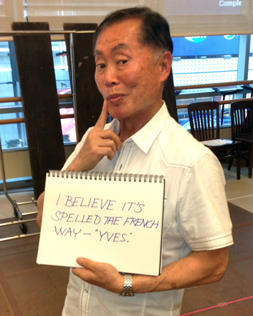 "joasakura:  tyleroakley:  buzzfeed:  George Takei responds to ""traditional"" marriage fans.   George Takei is flawfree.  In other news, my boss emailed me the buzzfeed link to this earlier today."