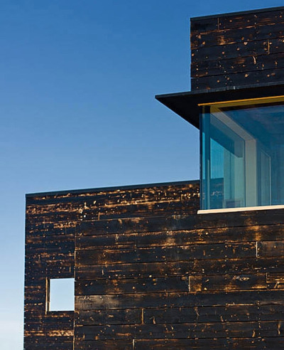 House for a Musher by Mayer Sattler-Smith Charred wood siding was used for the exterior cladding as reference to wildfires that happen in the area frequently.