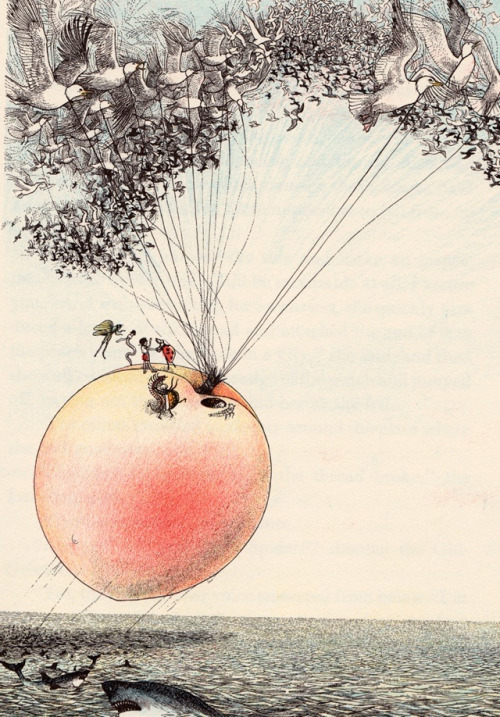 James and the giant peach - (Roald Dahl)