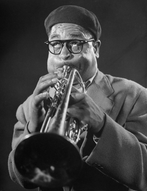 life:  Dizzy Gillespie during a jam session, 1948 — see more photos here. (Allan Grant—Time & Life Pictures/Getty Images)