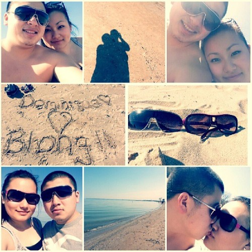 Beach with my love. :)