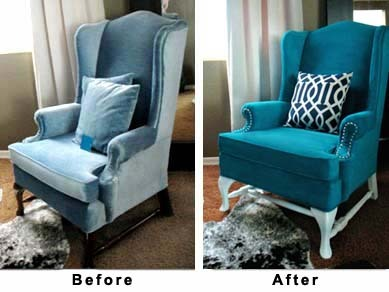 thisoldapt:  Stop what you're doing for a second and listen to what I'm telling you right now. Whether you've inherited ugly furniture or picked something up off the curb…YOU DO NOT HAVE TO LIVE WITH UPHOLSTERY THAT MAKES YOU WANT TO VOMIT. You can reupholster, of course, but if you're t