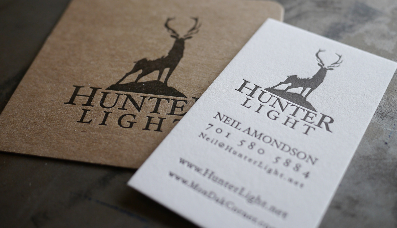We've recently completed a couple coaster / business card combinations, which work out very nicely as a simple branding package. Coasters make lovely, unique gifts and certainly get noticed. This small package was printed for a new business of a long time family friend. We chose to contrast the Pearl White Crane Lettra stock on the business card with a hefty chipboard for the coasters. The dark brown ink on both pieces pulled it all together.