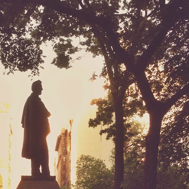 This statue of Abraham Lincoln in Union Square Park was cast in 1870, just five years after his death (at Union Square Park)
