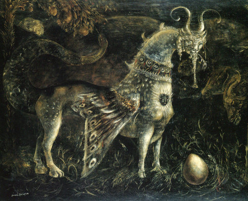 1910-again:  Leonora Carrington, Who Art Thou, White Face? 1959