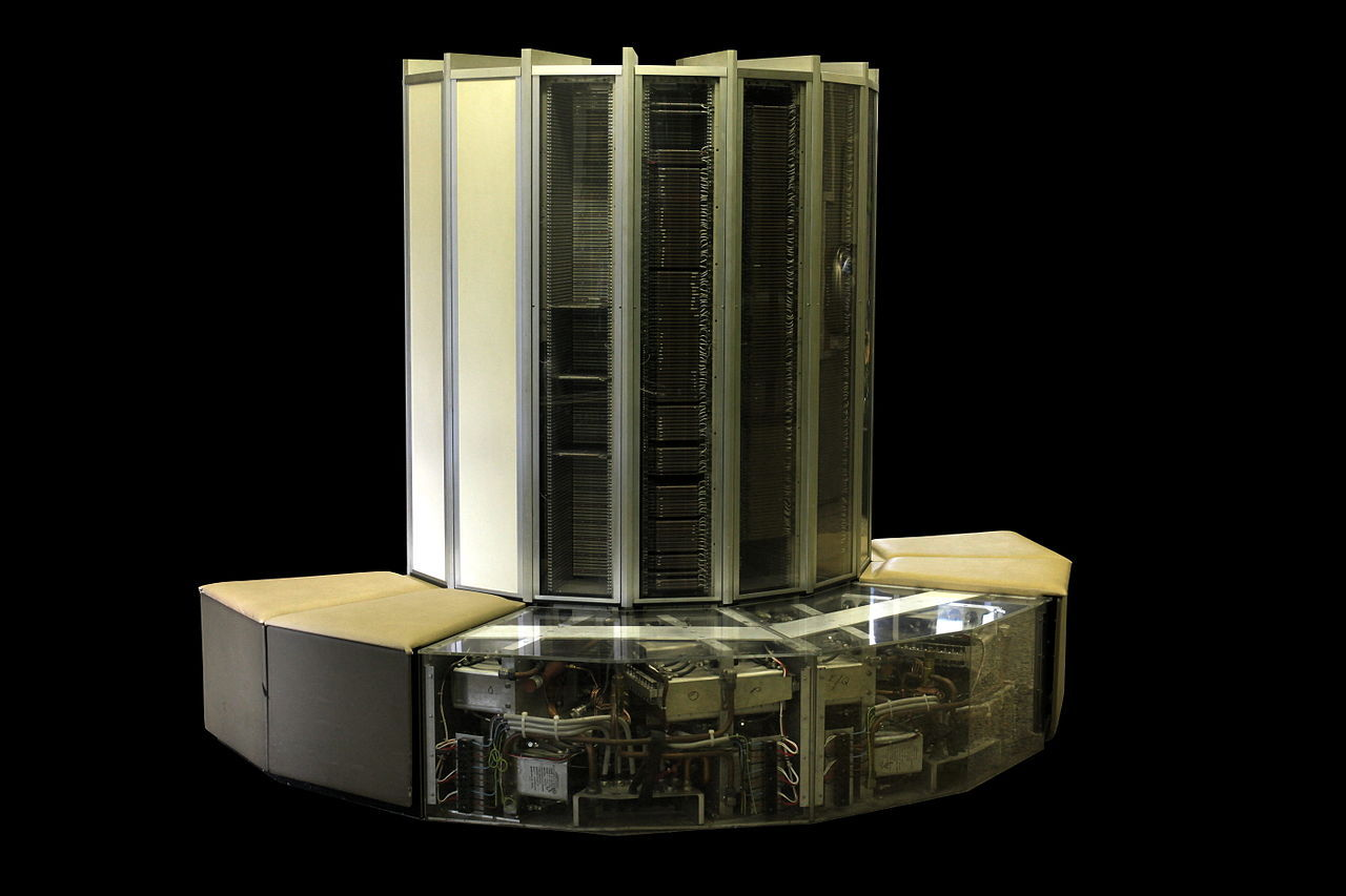 "That S**t Cray-1 Think the Apple II was awesome? Meet the pinnacle of mid-70's computing design, in aesthetics and performance. They just don't make 'em like this anymore do they? Let's see you lie down and snooze on your iMac, eh? The Cray-1 was introduced in 1975, its c-shape housing thousands of early integrated circuits, each less powerful than what's in even an average smartphone these days (but it was more powerful, because there so many). The bench, a favorite nap spot for tired programmers/make-out spot at geeky holiday parties, housed a freon cooling system so that those thousands of chips didn't melt. I remember seeing one of the successors to the Cray-1 when I visited my dad's lab as a kid in the 80's. ""What is this wrap-around bench computer that someone stole from the deck of the Enterprise?"" I asked (that sounds like something I would ask anyway). It looked like a time portal with a sofa attached. I guess for $8 million bucks, adding a seat was the least they could do. Read more about the history of the Cray-1 and more early supercomputers here."