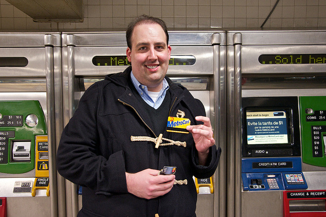 15MAR2013: Mark and the MetroCard on Flickr.