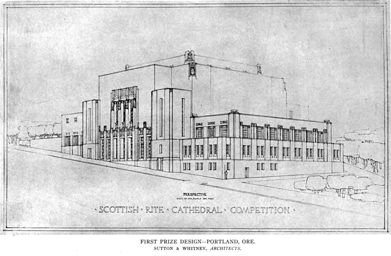 Design for the Scottish Rite Cathedral, Portland