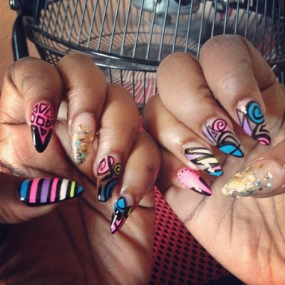 #nails #nailart #colors #girls #pretty #summer #neons #fun #art 💅💅