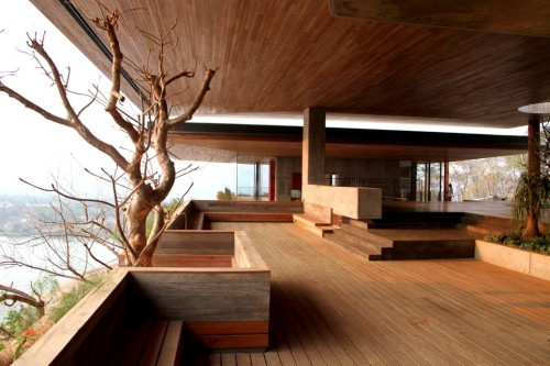 "The World Architecture house of the year is on a granite monolith in Zimbabwe. It updates the austere modernist traditions of ""Classic Bond Villain"" with an eco-lodge twist"