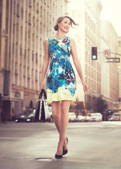 tjmaxx:  Trending: Taking Ladylike in a Bold New Direction Hit the street in spring's bright prints.