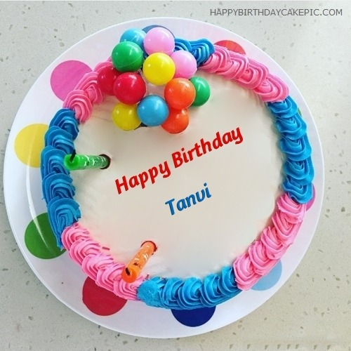 Beautiful Birthday Cake For Tanvi