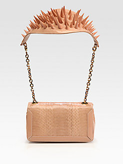 rockinrobinsrednest:  One sharp bag by Christian Louboutin - Artemis Python Spike Shoulder Bag
