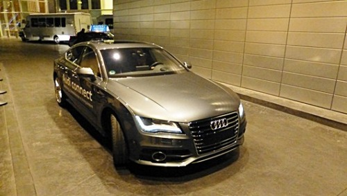 Audi's self-parking car     Valet parkers may lose their jobs if this German automaker's system takes off. Car owners can summon their cars with a click of the smartphone, and send them solo back to the garage with another click.