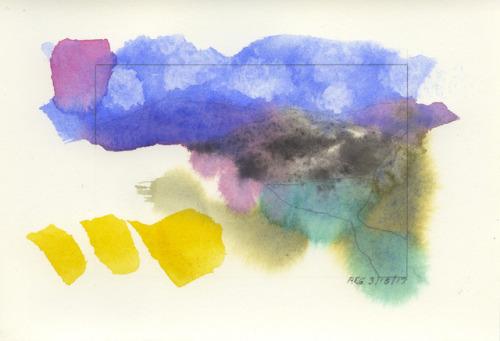 reg-darling:Reg Darling, watercolor journal, 3/ 18/ 17