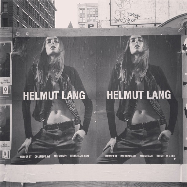 hlangjournal:  SPRING 2013 CAMPAIGN On the corner of Bond and Lafayette St in NYC.