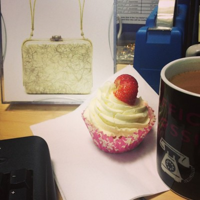Cupcake and coffee (at bracknell)