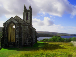 mixtapes:  Abandoned church, Poisoned Glen, Co. Donegal, Ireland.  Poisoned Glen was originally known by the local people as Heavenly Glen. Unfortunately an error was made by an English cartographer during translation when he confused the Gaelic word for Heaven (neamh) with the word for poison (neimhe).