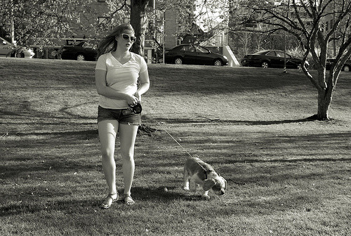 erlin1:  Girl with Dog Loring Park. Minneapolis. May, 2013 Leica M8  Flickr: http://flic.kr/p/ejeTBM