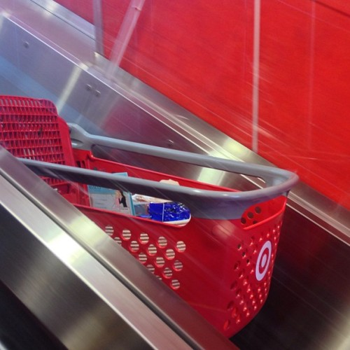 Shopping cart escalators: one of life's small pleasures.