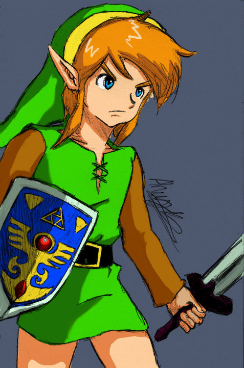 triforceoftrust:  Link Lttp Coloured by ~Ronron-Senpai