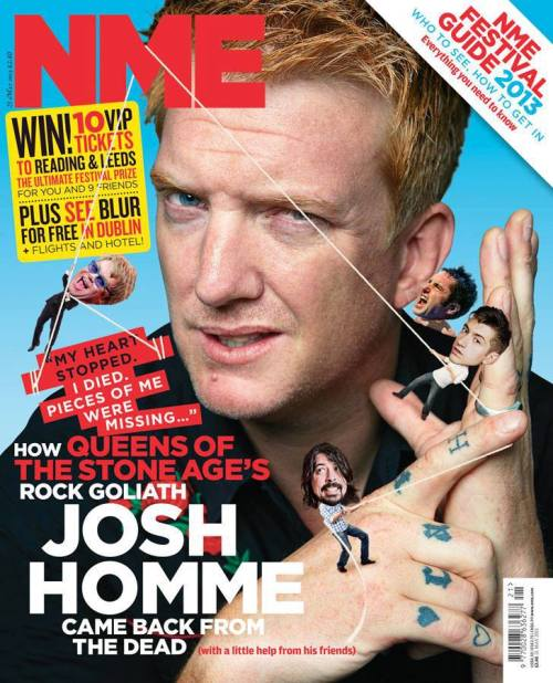 misfitsoul:  NME Magazine  Ha, Reznor taking a chunk out of Hommes ear there NOMNOM