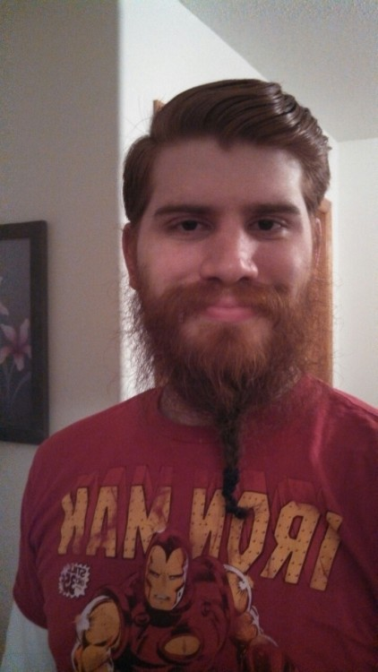 I got an ask saying I should braid my beard, but I can't figure out how to braid my beard.  Luckily, I have met women at the bar who have braided my beard for me.  Here is an old pic from December 2012 with my beard braided.