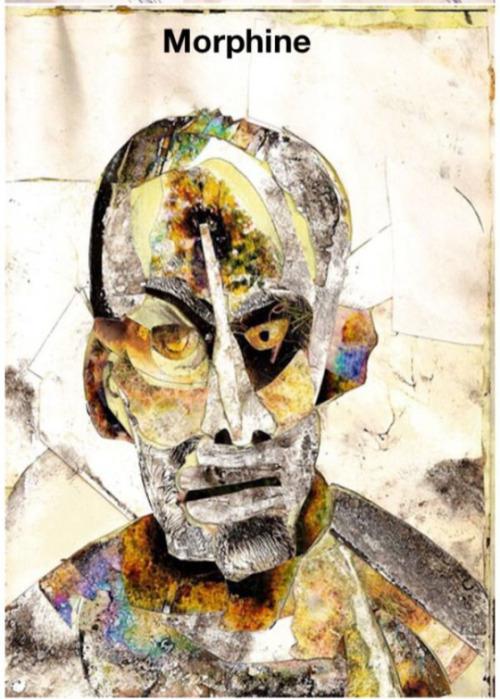 "brazilia:  الفنان "" Bryan Lewis Saunders ""  ينقل تجربته برسمه لمجموعة من الرسوم التي تمثّله بعد تعاطيه انواع مختلفة من المخدرات .  Bryan Lewis Saunders is an artist from Johnson City, Tennessee who's doing a series of self portraits under the influence of various drugs."
