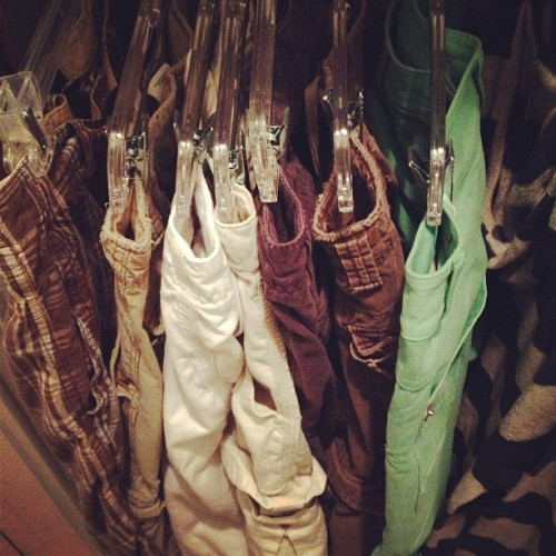 I have added mint green shorts to my shorts collection! #shorts #clothes #mint #green #closet
