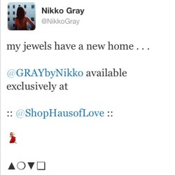 #GRAYbyNikko x #ShopHausOfLOVE .   •••• @shophausoflove ••••  Haus Of Love  600 Spring St. Unit 108  Los Angeles, CA 90014   lots of rare one of a kind pieces . handmade #withlove by #NikkoGray .  (at Haus of Love)