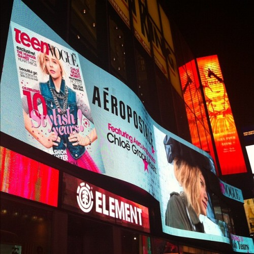 We're big in Times Square with Chloë Grace Moretz and Aeropostale