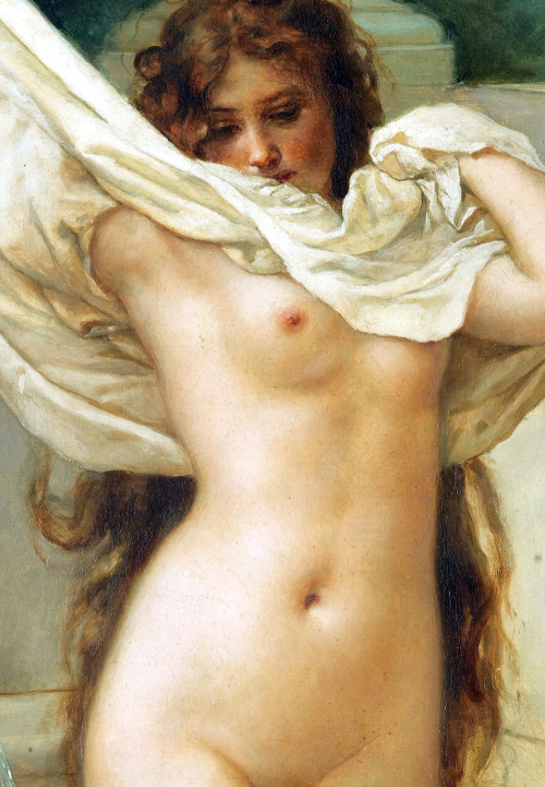 c0ssette:  Virgilio Tojetti,Bath time (detail) 1897.